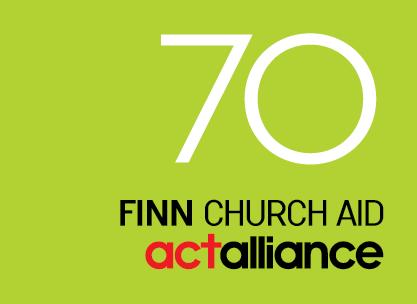 Finn Church Aid's 70th Anniversary logo