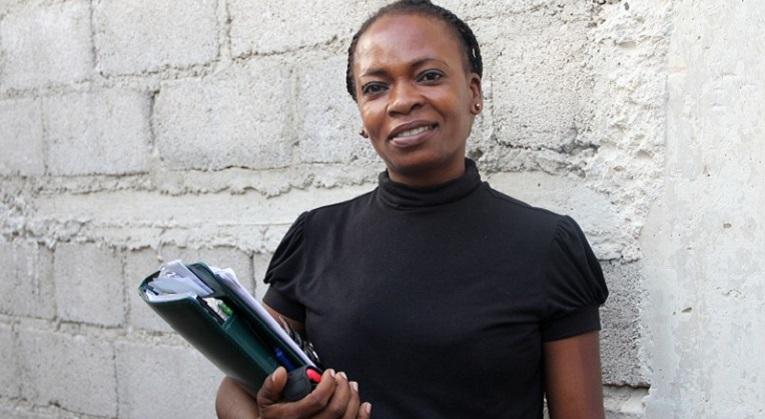 Rose-Marie Delissaint haluaa rakentaa Haitia. Kuva: Marjut Tervola