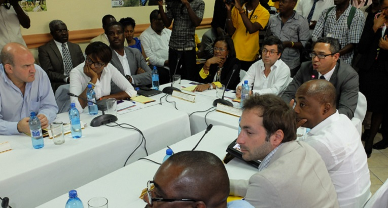 The cooperation agreement concerning the building of the schools was signed in Haiti in May. Photo: Finn Church Aid