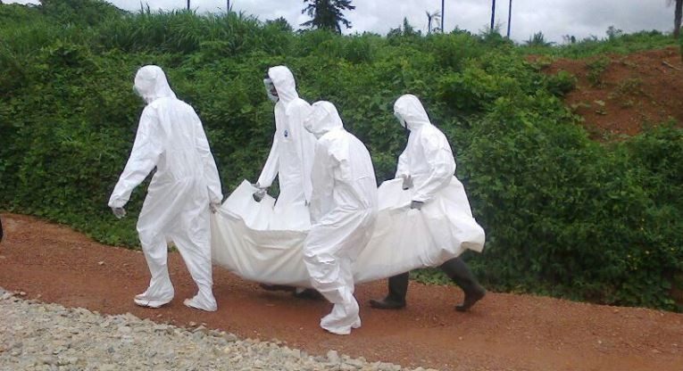 Funeral of an Ebola victim in Sierra Leone. Photo: ACT Alliance