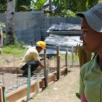 Filipino Rizel Mayo is supervising the construction of the school buildings.