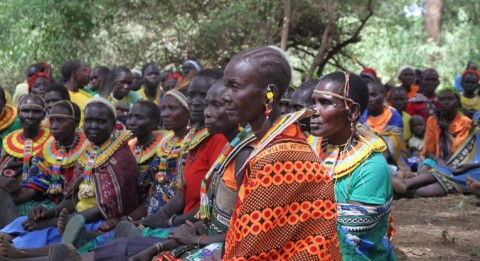 Many women in Northern Kenya counties are widowers because of violent cattle theft. Women participate actively in community meetings where peace building is discussed.
