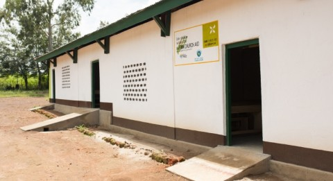 The village's primary school repaired By Finn Church Aid.