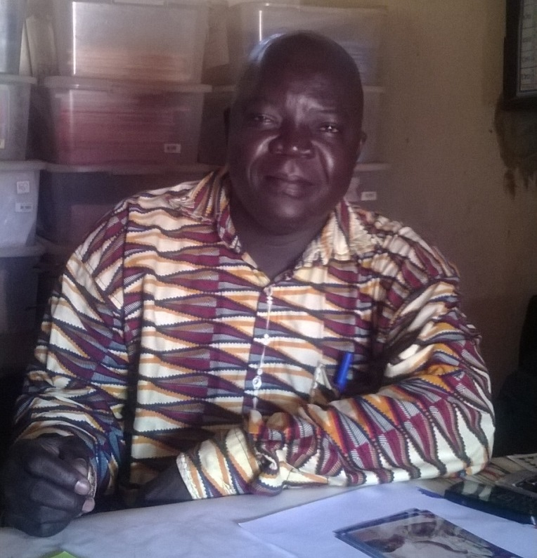 Samson Ngaibona, 39, is the director of Benz-vi School in Bangui, Central African Republic