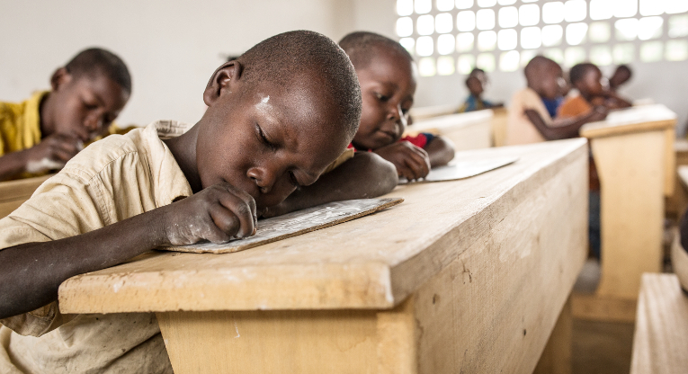 Start of the school year of 2014–2015 is delayed in Central African Republic (CAR). Finn Church Aid has repaired 25 schools in CAR, in where 28 000 children and youth can study. Photo Ville Asikainen.