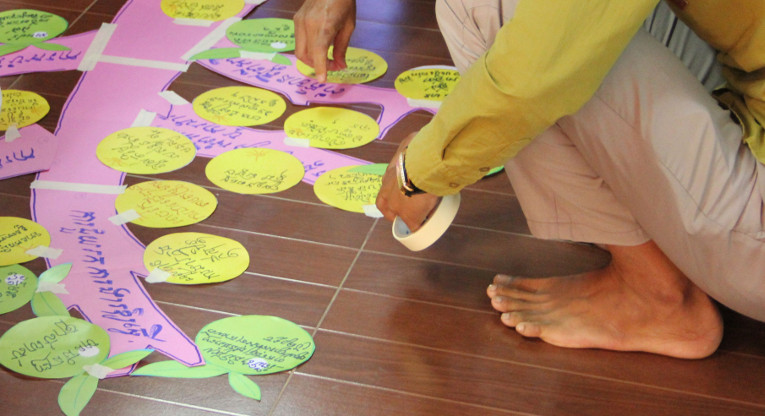 The participants were barefooted during the whole three-day intensive training.