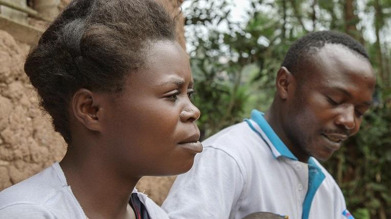 """Heritier Nkuba  är gift med Neema Mihiyo. Hon väntar parets andra barn. """"Jag är stolt över min man"""", säger Neema."""