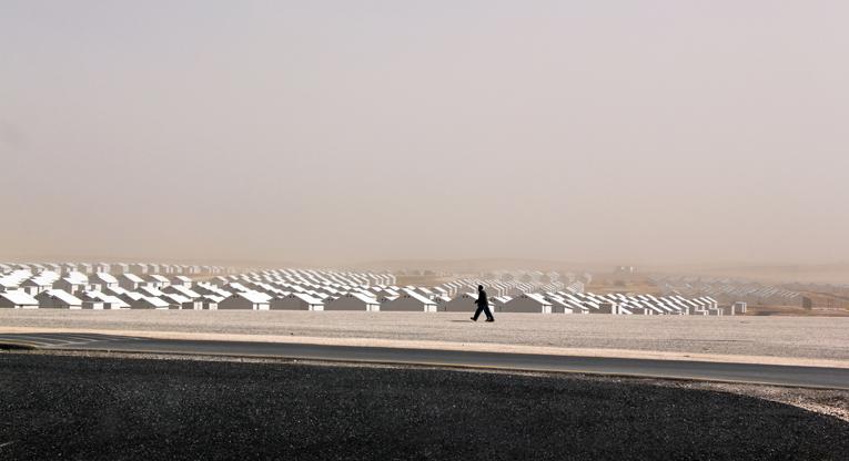 Azraq refugee camp in Jordan. Photo: Taina Värri.