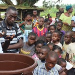 FCA handed out hygiene supplies near Monrovia in Liberia last October. Photo: Anais Marquette