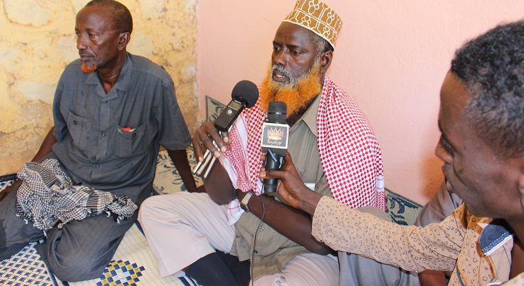 The dispute between the Eelay and the Hariin clans was settled under media coverage in the city of Baidoa earlier this year. Photo: Ali Ibrahim