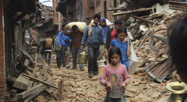 Cuts on development aid funds mean cuts to humanitarian aid. Reconstruction in Nepal following the April earthquake will take years. Photo: ACT/Christian Aid/Yeeshu Shukla.