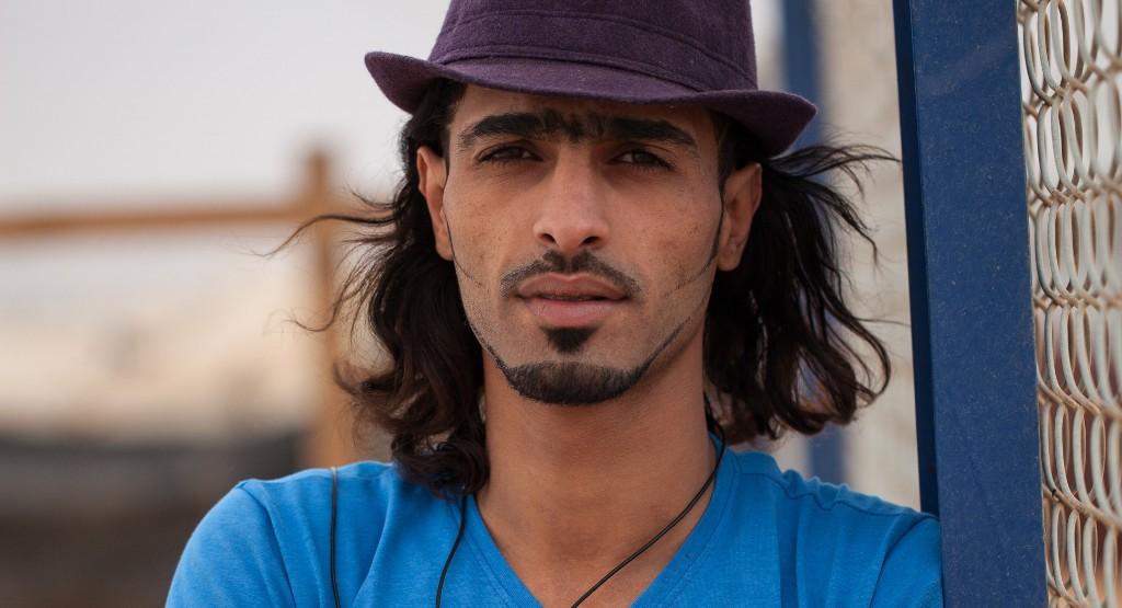 Anwar Abujesh Zaatrin pakolaislerillä Jordaniassa. Kuva: Ville Asikainen.