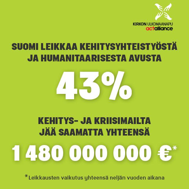 Kehitysmaiden ihmisiltä leikataan 1,5 miljardia
