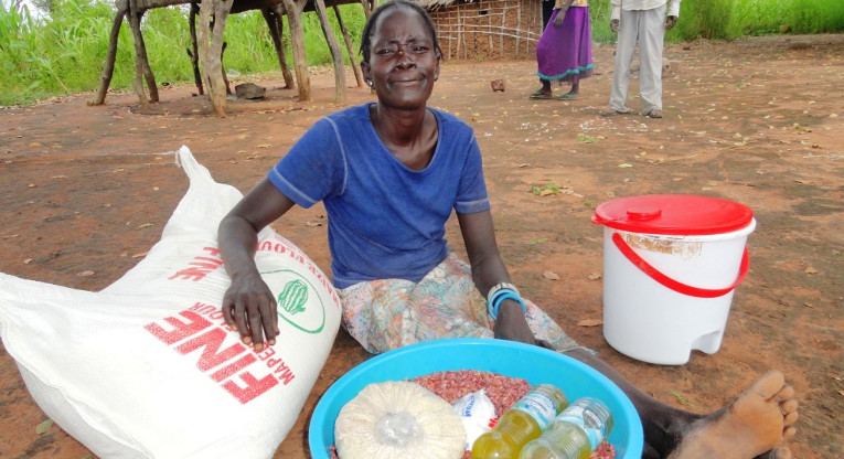 Finn Church delivered food assistance to the Mundri area in South Sudan in September 2014.