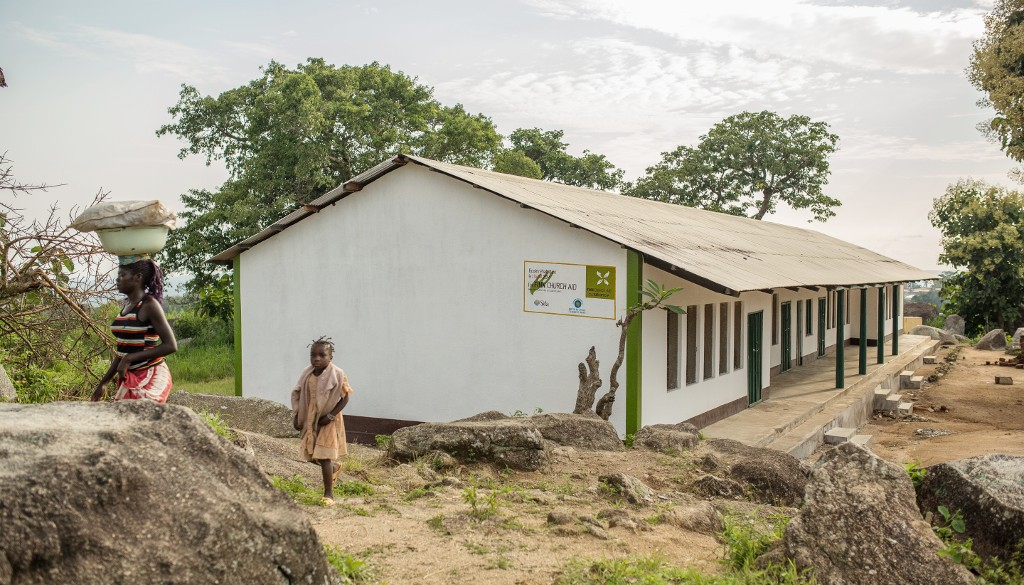 Keski-Afrikassa korjattiin kouluja