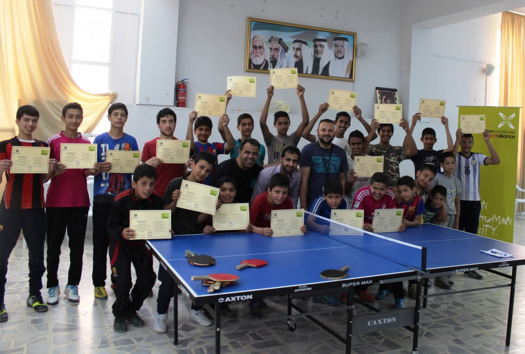 After signing an MoU with the Higher Council for Youth in Jordan, Finn Church Aid has started to implement a variety of activities from educational to recreational. The activities take place in youth centres which used to lack equipment and support. Photo: Muhammad Smadi