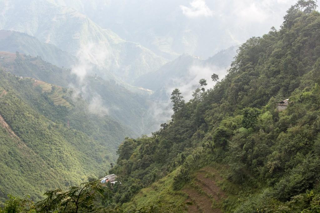 Bhattendada landscape about an hour's drive from Kathmandu.