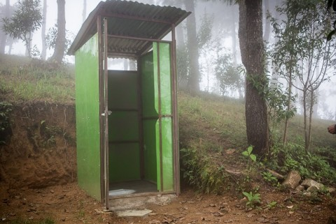 A toilet designed by Finn Church Aid.