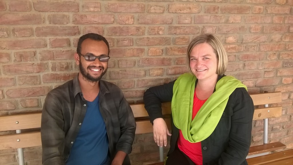 Khalid Idriss, Acting Dean at Eritrean Institute of Technology, College of Education with Hanna Posti-Ahokas, Education Specialist, FCA.