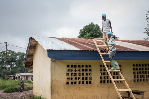 Part of Finn Church Aid's action in Central African Republic is building schools. Photo: Ville Asikainen