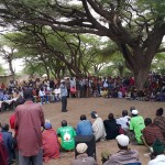 In Isiolo, more than 300 members of the Turkana community participated in the meeting and discussed peace and negotiated the cessation of violence.