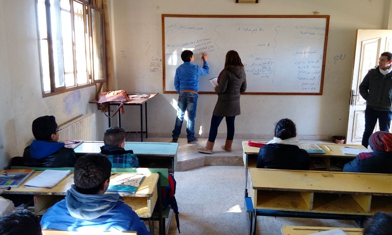 Finn Church Aid supports the education of children in Syria. Photo: IOCC