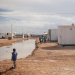Syrian child in a refugee camp in Jordan. Photo: Ville Asikainen