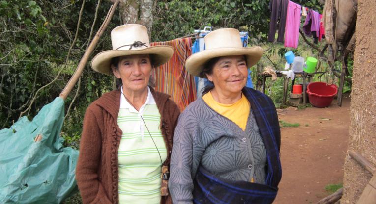 Maaseudun naisia Perussa.