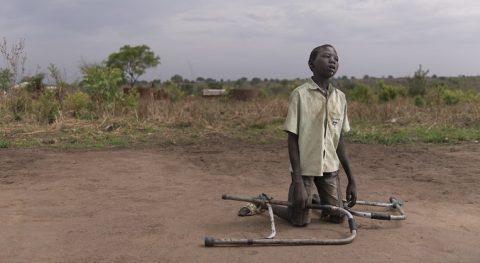 Chawich,16, asuu pakolaisleirissä Ugandassa.
