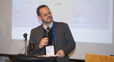 """INEE's Dean Brooks chaired FCA's panel discussion """"Access to quality education in responding to crises"""" at UNU-WIDER's Conference in Helsinki in September. Photo: Alexander Zach/UNU-WIDER."""
