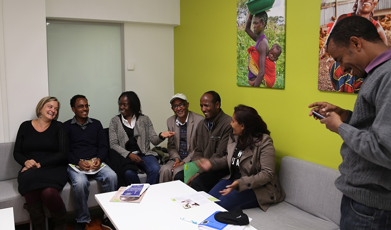 Eritrean teacher educators at Finn Church AId office in October 2016.