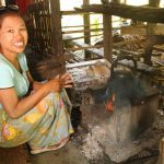 Wah Wah runs a small scale business in concrete, environment friendly and energy-saving cooking stoves.