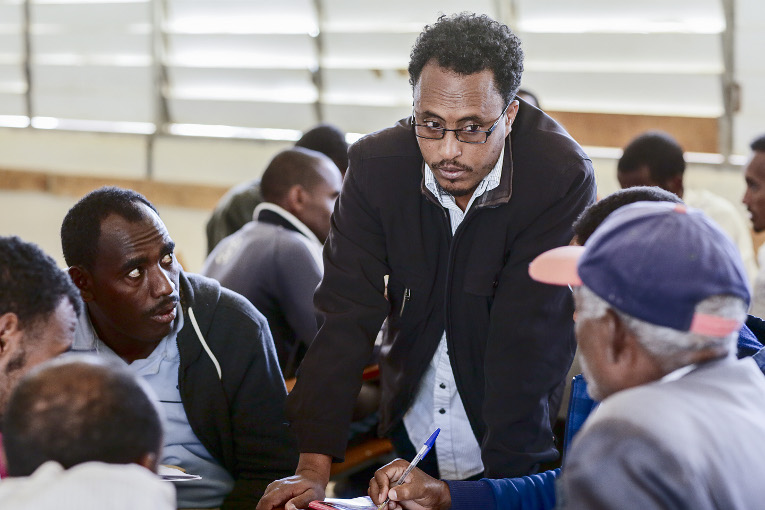 """""""The students are a resource themselves, and they give me the opportunity to learn new things as well"""", says Amanuel Yosief."""