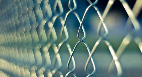 Chain-link fence.