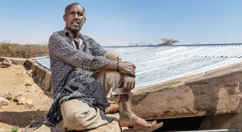 """""""Syksyllä satoi vain yhtenä päivänä, mutta onneksi kaksi vesisäiliötä oli juuri saatu korjattua"""", Rajid Ibrahim kertoo."""