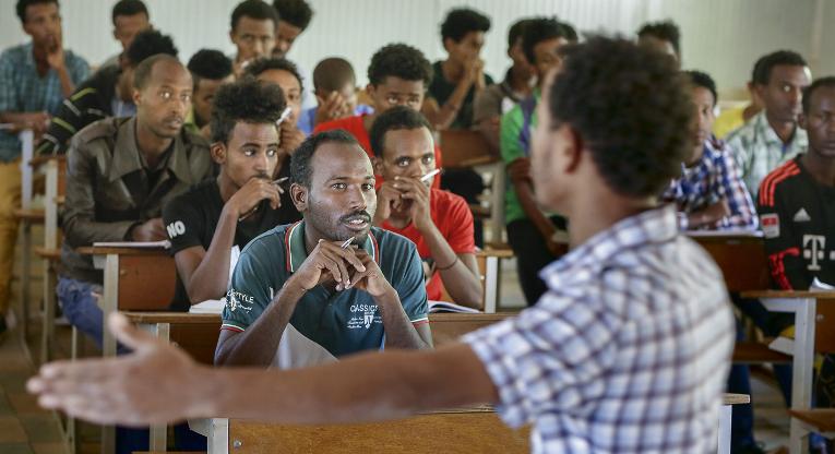 Opettajankoulutusta Eritreassa. Kuva: Jukka Gröndahl.