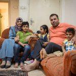 Sawsan ja Mohammed perheineen pakeni Jordaniaan marraskuussa 2012. Lapset kuvassa vasemmalta: Ahmad, 10, Nour, 7, ja Yasin, 5. Kuva: Ville Asikainen