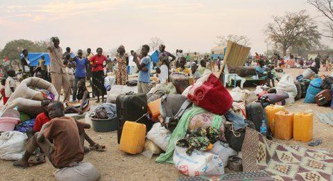 Eteläsudanilaisia pakolaisia Adjumanissa Pohjois-Ugandassa. Kuva: Luterilainen Maailmanliitto