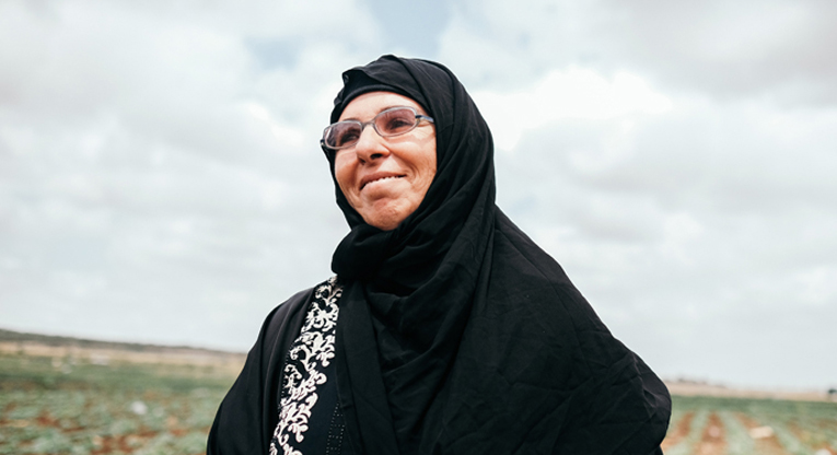 Ibtisam Musa, 48, lives in Deir Ballout, a village of about 5,000 people. Photo: Tatu Blomqvist