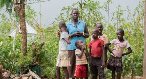 Muja Rose fled the war in South Sudan to neighbouring Uganda. The country has received over a million refugees from South Sudan. Roses daughter, 10-year-old Ayite (to the left), has lost six kilos after the family arrived a year ago. Photo: Tatu Blomqvist