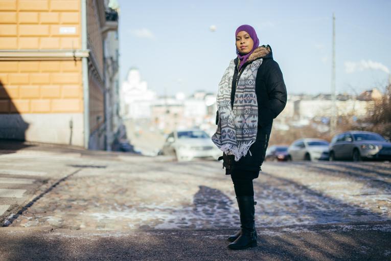 Reach Out -hankkeen koordinaattori Habiba Ali toimii juontajana Sanomatalossa 24. maaliskuuta järjestettävässä tapahtumassa.