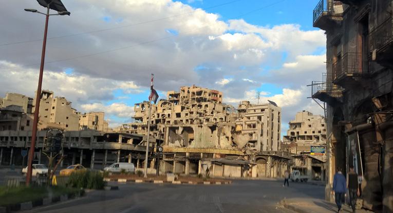 Homsin katunäkymä.