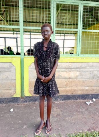 Mary Paul, 11, says she feels safe in the new school block in Langachod. Photo: Kajasuk Jackson