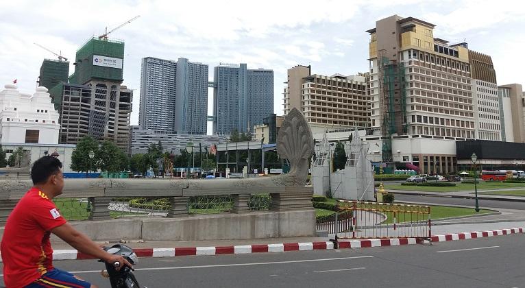 Kaupunkikuva Phnom Penhistä.