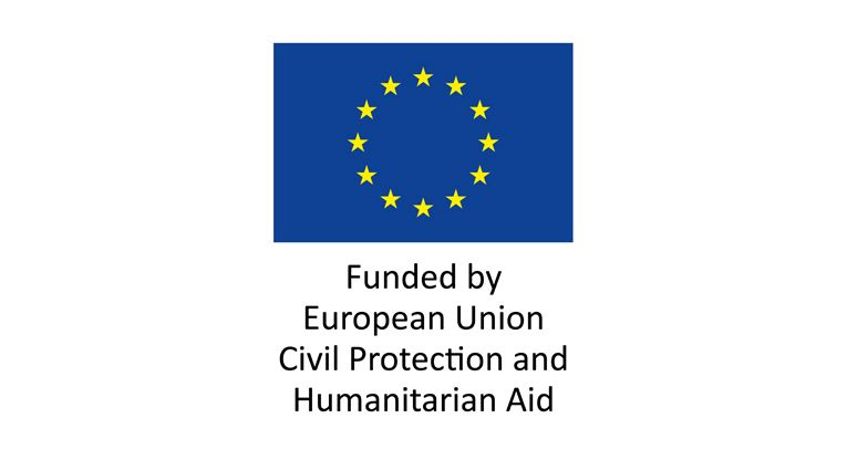 EU logo and text Funded by European Union Civil Protection and Humanitarian Aid