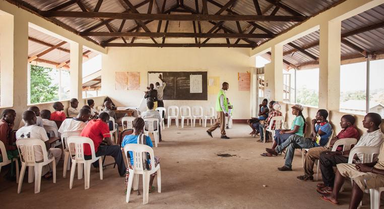 Finn Church Aid offer vocational education at the Rwamwanja refugee settlement in Uganda