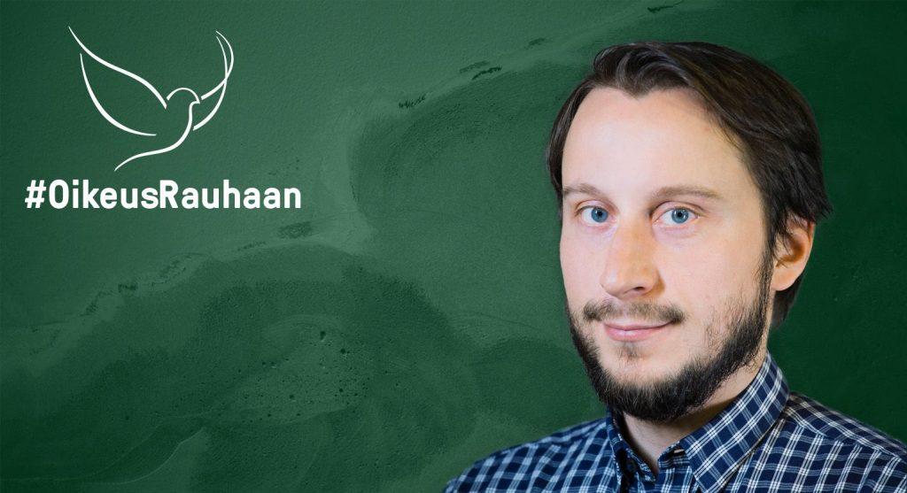 KUA:n työntekijä Erik Nyström kirjoittaa rauhantyöstä.