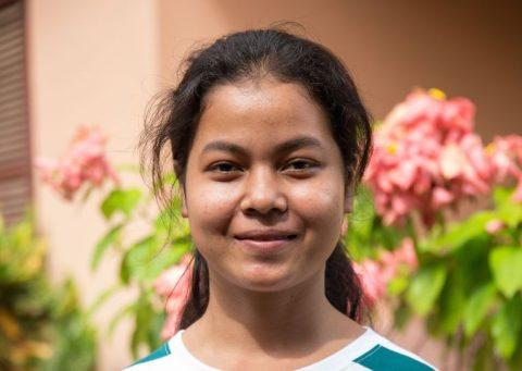 Leakhena Say, 15, är intresserad av läraryrket.