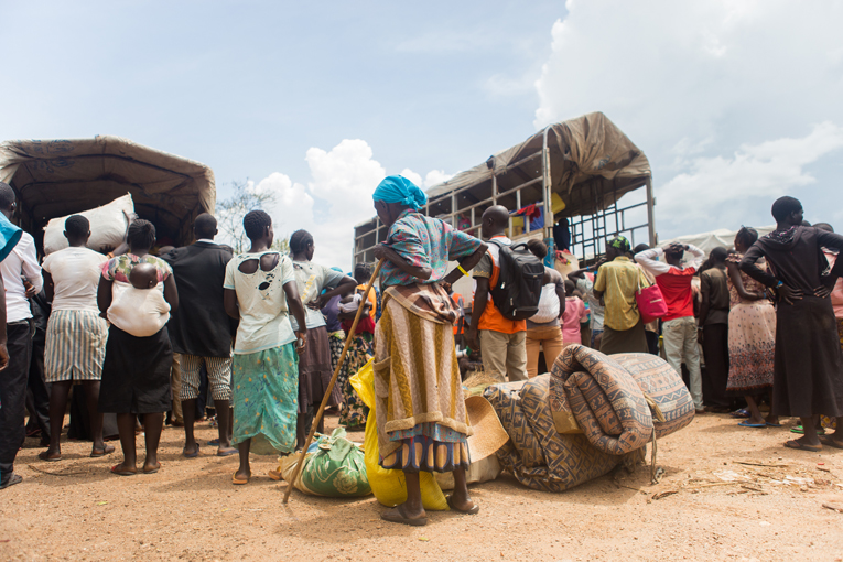 Newly arrived refugees from South Sudan in Omugo, Northern Uganda. Photo: Tatu Blomqvist