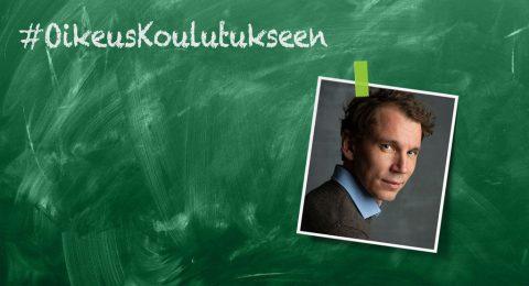 Koulutus pitäisi nostaa Suomen kehityspolitiikan kärkiteemaksi myös Juha Itkosen mielestä.